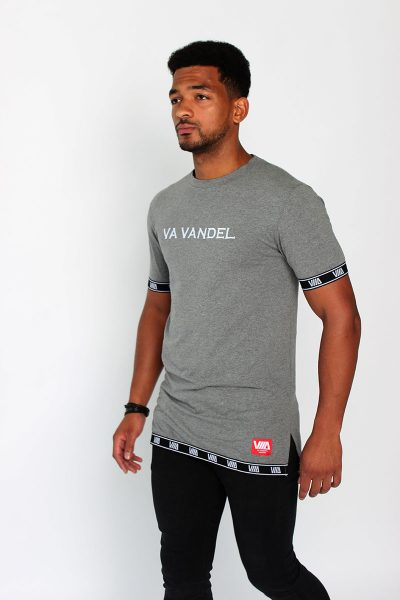 VA VANDEL Grey Split T-Shirt